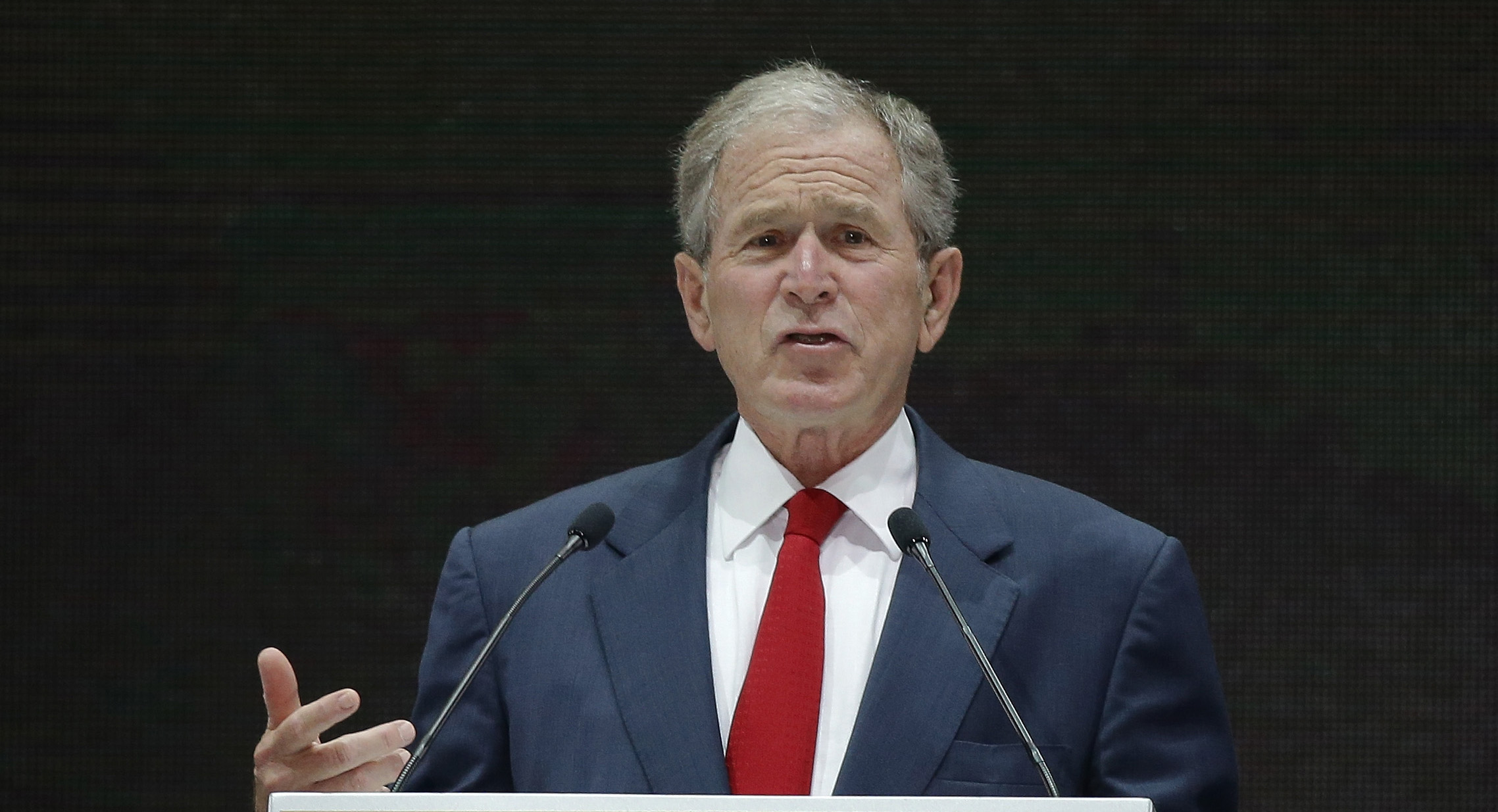 christianity politics and george bush essay God and country what it means to be a christian after george w bush president bush joins marines in prayer at camp lejeune, nc, on april 3, 2003 accordiing to a.